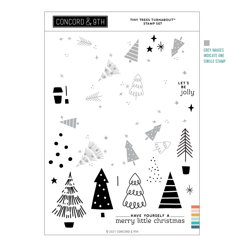 Concord & 9th TINY TREES TURNABOUT Clear Stamp Set 11205 zoom image