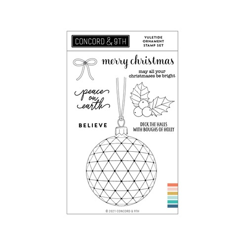 Concord & 9th YULETIDE ORNAMENT Clear Stamp Set 11208 Preview Image