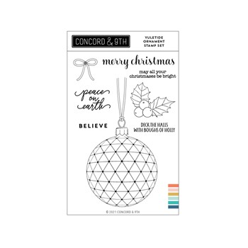 Concord & 9th YULETIDE ORNAMENT Clear Stamp Set 11208
