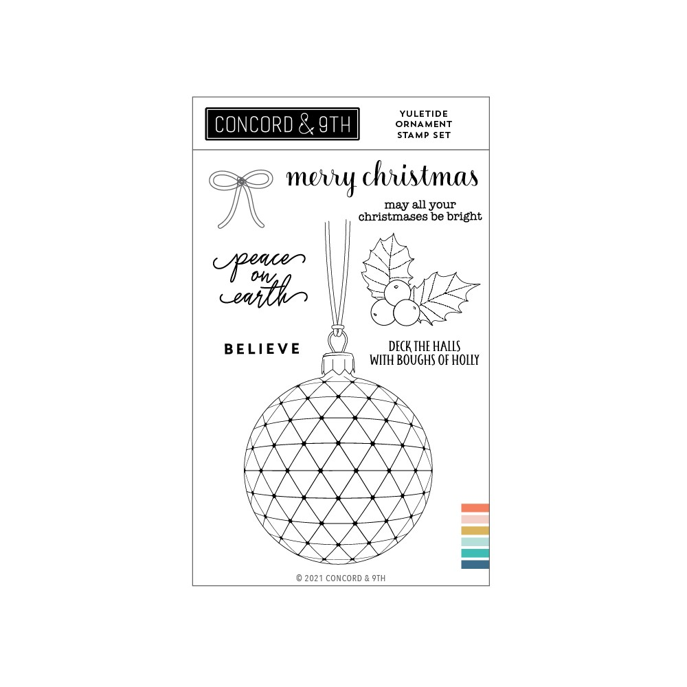 Concord & 9th YULETIDE ORNAMENT Clear Stamp Set 11208 zoom image