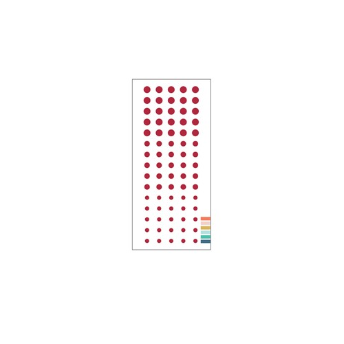 Concord & 9th CRANBERRY Enamel Dots 11217 Preview Image