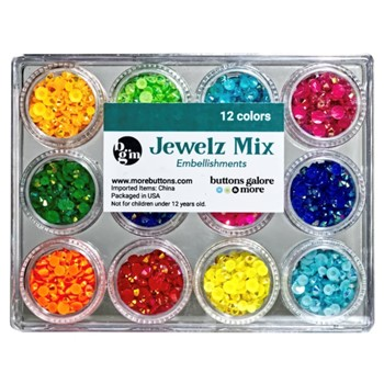 Buttons Galore and More Jewelz BRIGHTS MIX