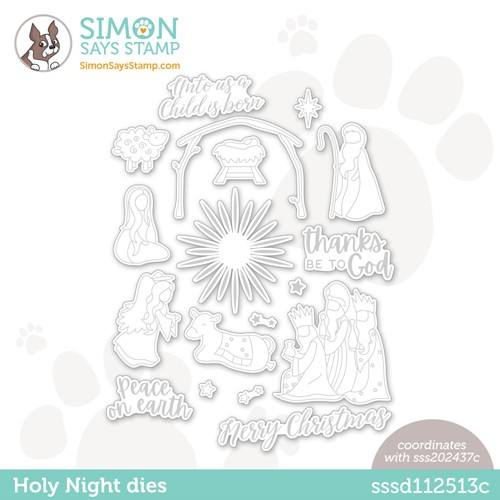 Simon Says Stamp HOLY NIGHT Wafer Dies sssd112513c Preview Image