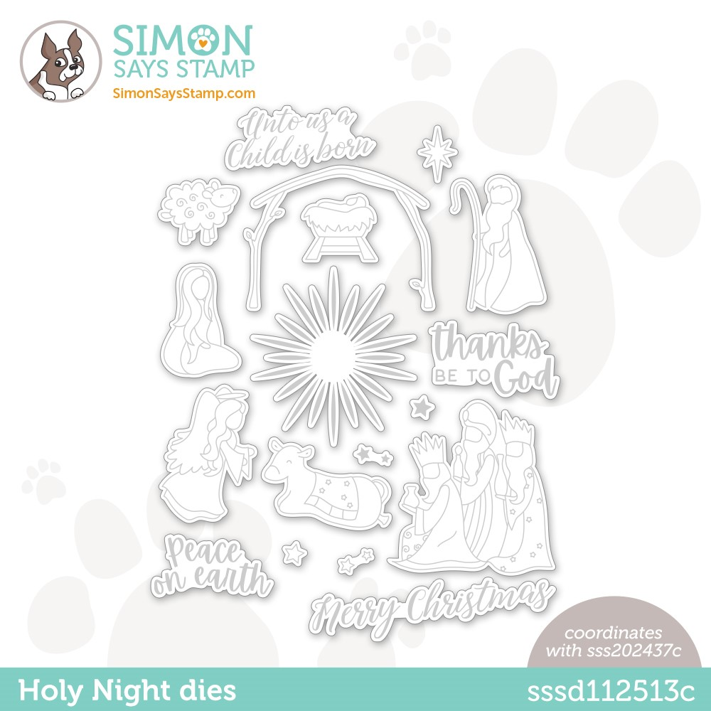 Simon Says Stamp HOLY NIGHT Wafer Dies sssd112513c zoom image