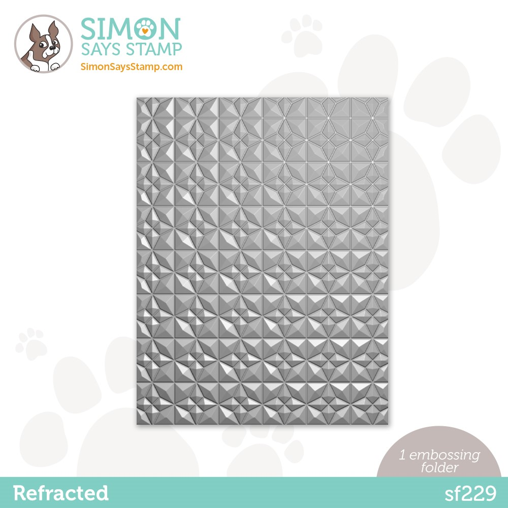 Simon Says Stamp Embossing Folder REFRACTED sf229 zoom image