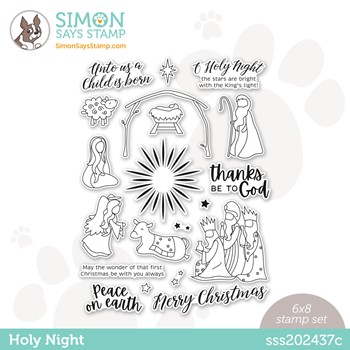 Simon Says Clear Stamps HOLY NIGHT sss202437c