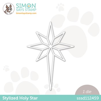 Simon Says Stamp STYLIZED HOLY STAR Wafer Die sssd112459