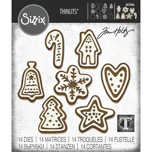Tim Holtz Sizzix CHRISTMAS COOKIES Thinlits Dies 665566 Preview Image
