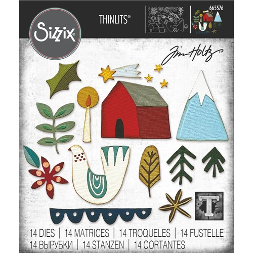 Tim Holtz Sizzix FUNKY NORDIC Thinlits Dies 665576 Preview Image