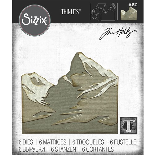 Tim Holtz Sizzix MOUNTAIN TOP Thinlits Dies 665580 Preview Image
