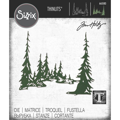 Tim Holtz Sizzix TALL PINES Thinlits Dies 665583 Preview Image