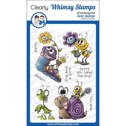 Whimsy Stamps LOVE BUGGIES Clear Stamps DP1076 Preview Image