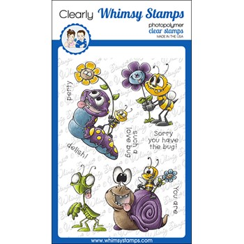 Whimsy Stamps LOVE BUGGIES Clear Stamps DP1076