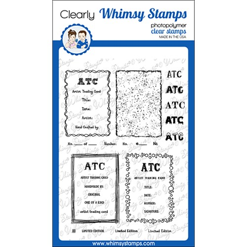 Whimsy Stamps ATC FRAMES AND SIGNATURES Clear Stamps CWSD389 Preview Image