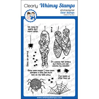 Whimsy Stamps COCOON Clear Stamps CWSD281a