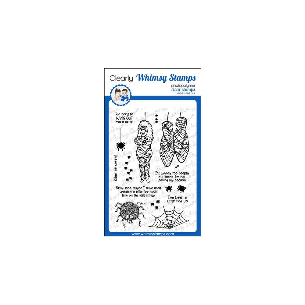 Whimsy Stamps COCOON Clear Stamps CWSD281a zoom image