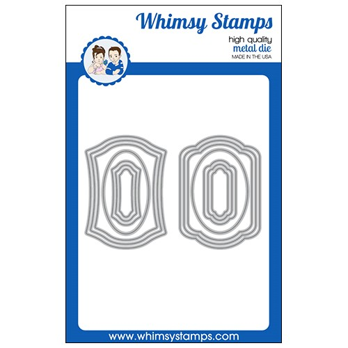 Whimsy Stamps ANTIQUE ATC FRAMES Dies WSD571 Preview Image