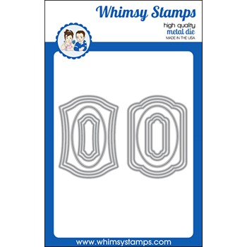 Whimsy Stamps ANTIQUE ATC FRAMES Dies WSD571