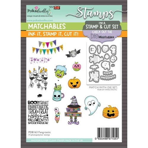Polkadoodles FANG-TASTIC Matchables Clear Stamps pd8163 Preview Image