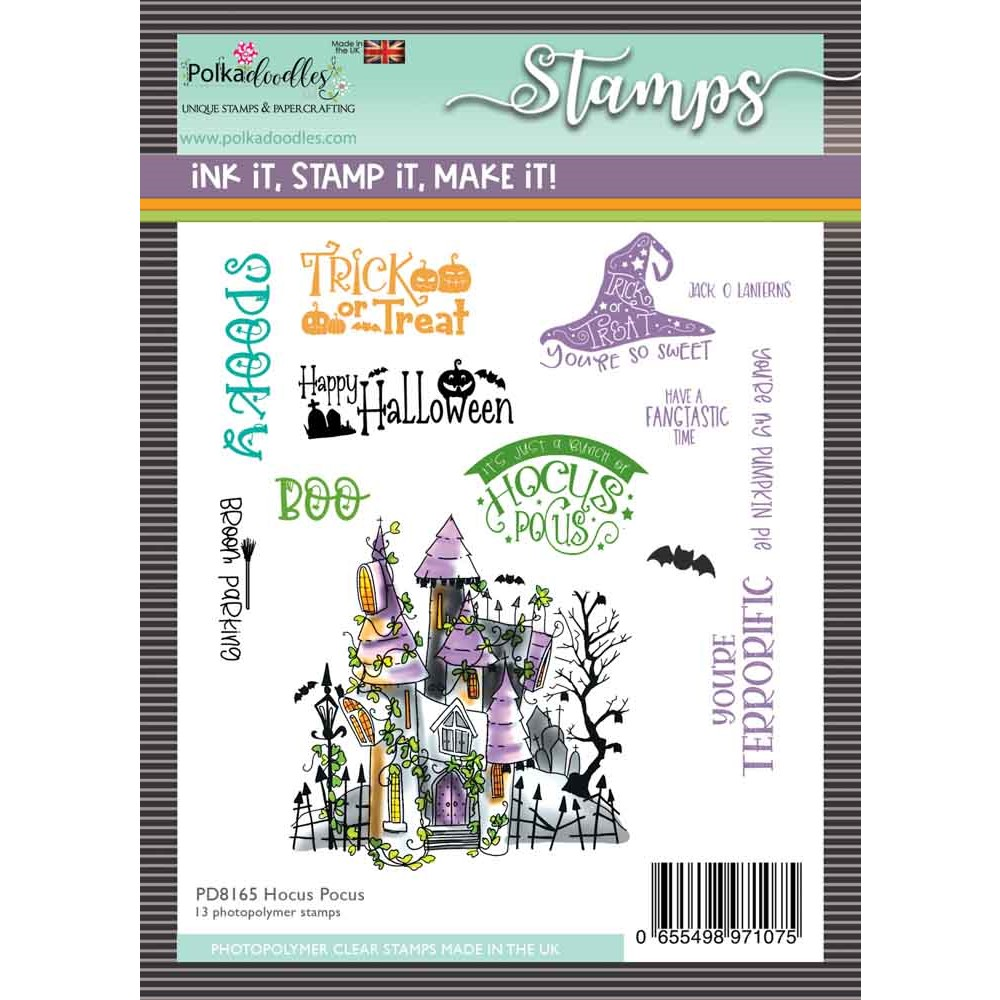 Polkadoodles HOCUS POCUS Matchables Clear Stamps pd8165 zoom image