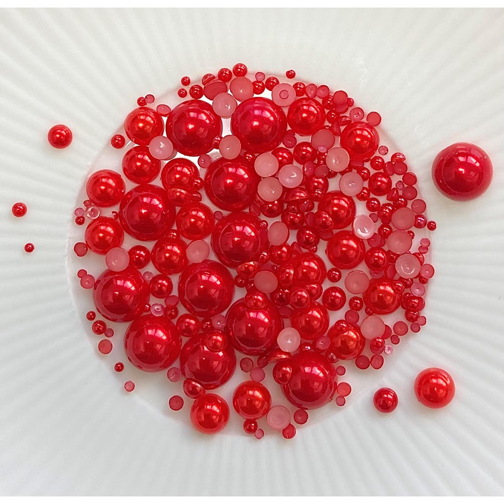 Little Things From Lucy's Cards Pearls CHUNKY SOFT POMEGRANATE lbp32 zoom image