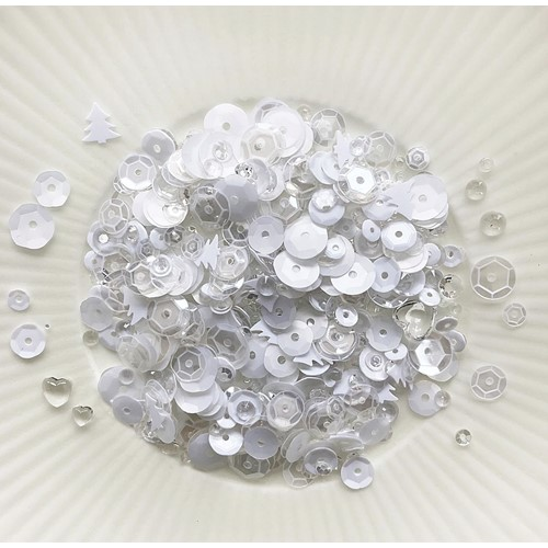 Little Things From Lucy's Cards SNOW ON SNOW Sparkly Shaker Mix LB407 Preview Image