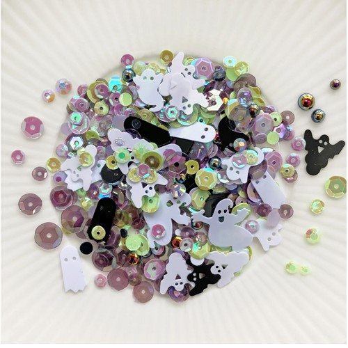 Little Things From Lucy's Cards GHOSTLY PARADE Sparkly Shaker Mix LB404 Preview Image