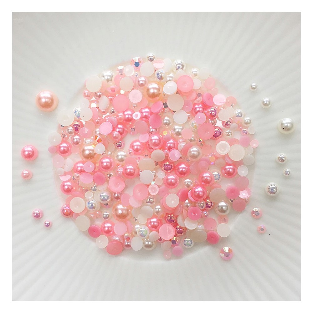Little Things From Lucy's Cards Crystal Collection VINTAGE ROSE Sparkly Shaker Mix LB401 zoom image