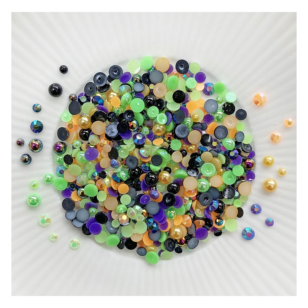 Little Things From Lucy's Cards Crystal Collection SPOOKED Sparkly Shaker Mix LB399 zoom image