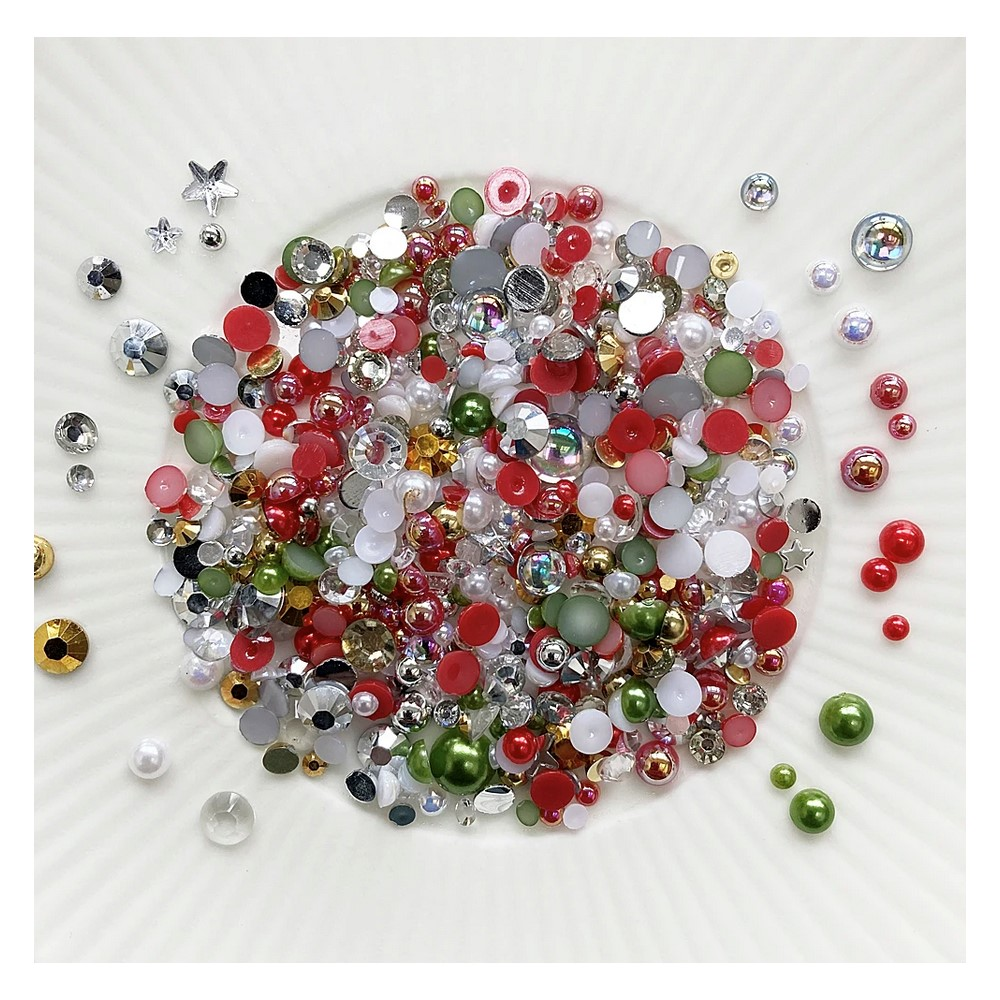 Little Things From Lucy's Cards Crystal Collection BAUBLES Sparkly Shaker Mix LB398 zoom image