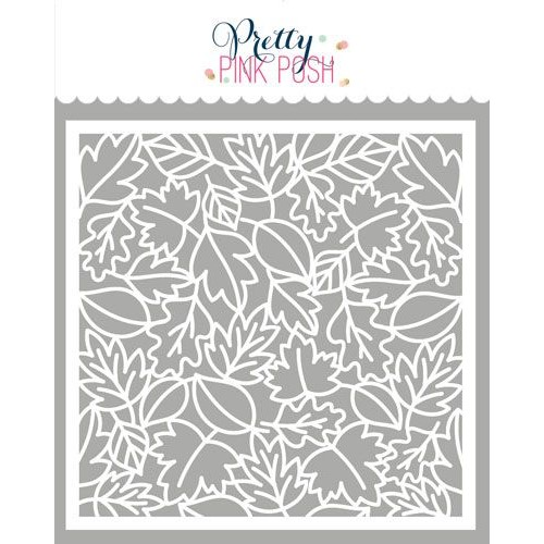 Pretty Pink Posh LEAVES BACKGROUND Stencil Preview Image