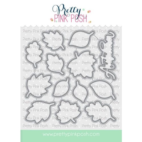 Pretty Pink Posh FALLING LEAVES Dies Preview Image