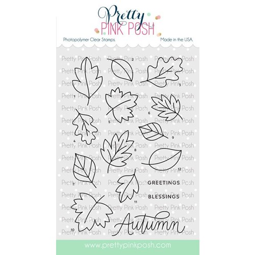Pretty Pink Posh FALLING LEAVES Stamps Preview Image
