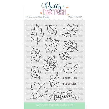 Pretty Pink Posh FALLING LEAVES Stamps