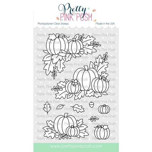 Pretty Pink Posh FALL CORNERS Clear Stamps Preview Image