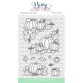 Pretty Pink Posh FALL CORNERS Clear Stamps