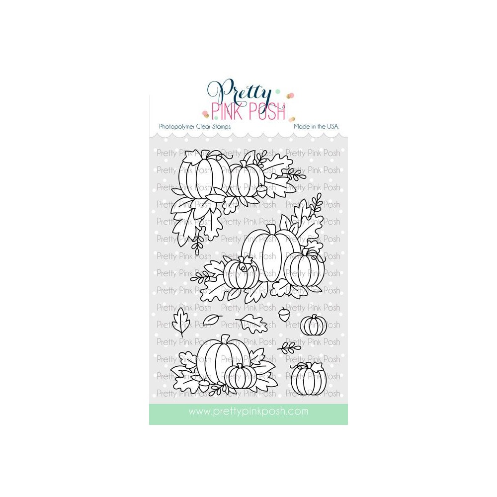 Pretty Pink Posh FALL CORNERS Clear Stamps zoom image