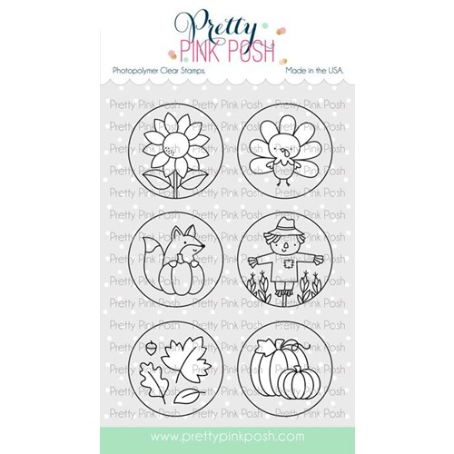 Pretty Pink Posh FALL CIRCLES Clear Stamps Preview Image