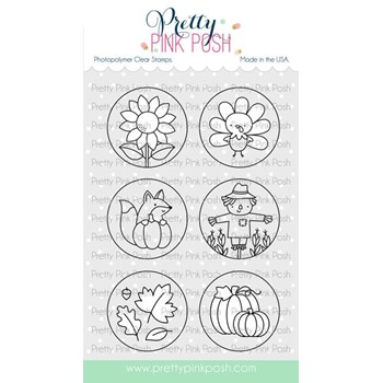 Pretty Pink Posh FALL CIRCLES Clear Stamps