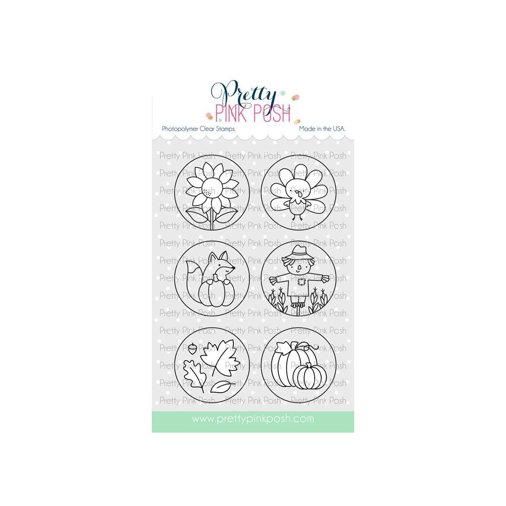 Pretty Pink Posh FALL CIRCLES Clear Stamps zoom image