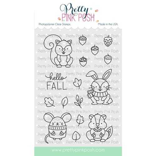 Pretty Pink Posh COZY FALL CRITTERS Clear Stamps Preview Image
