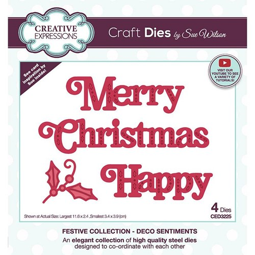 Creative Expressions DECO SENTIMENTS Sue Wilson Festive Collection Dies ced3225 Preview Image