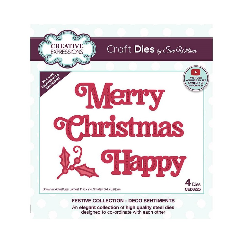 Creative Expressions DECO SENTIMENTS Sue Wilson Festive Collection Dies ced3225 zoom image