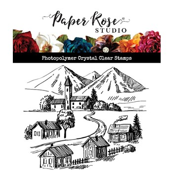 Paper Rose SMALL TOWN Clear Stamp 23590
