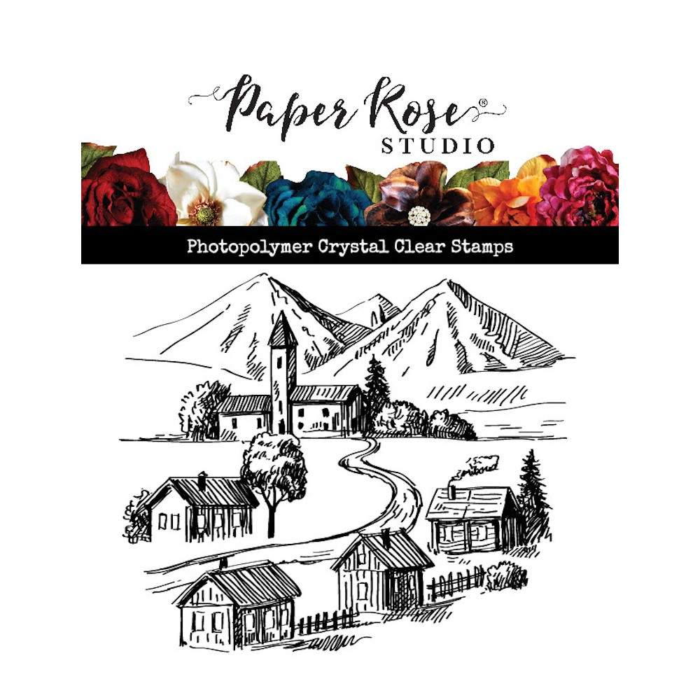 Paper Rose SMALL TOWN Clear Stamp 23590 zoom image