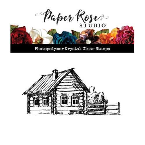 Paper Rose LOG CABIN Clear Stamp 23584 Preview Image
