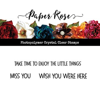 Paper Rose WISH YOU WERE HERE Clear Stamp 23521