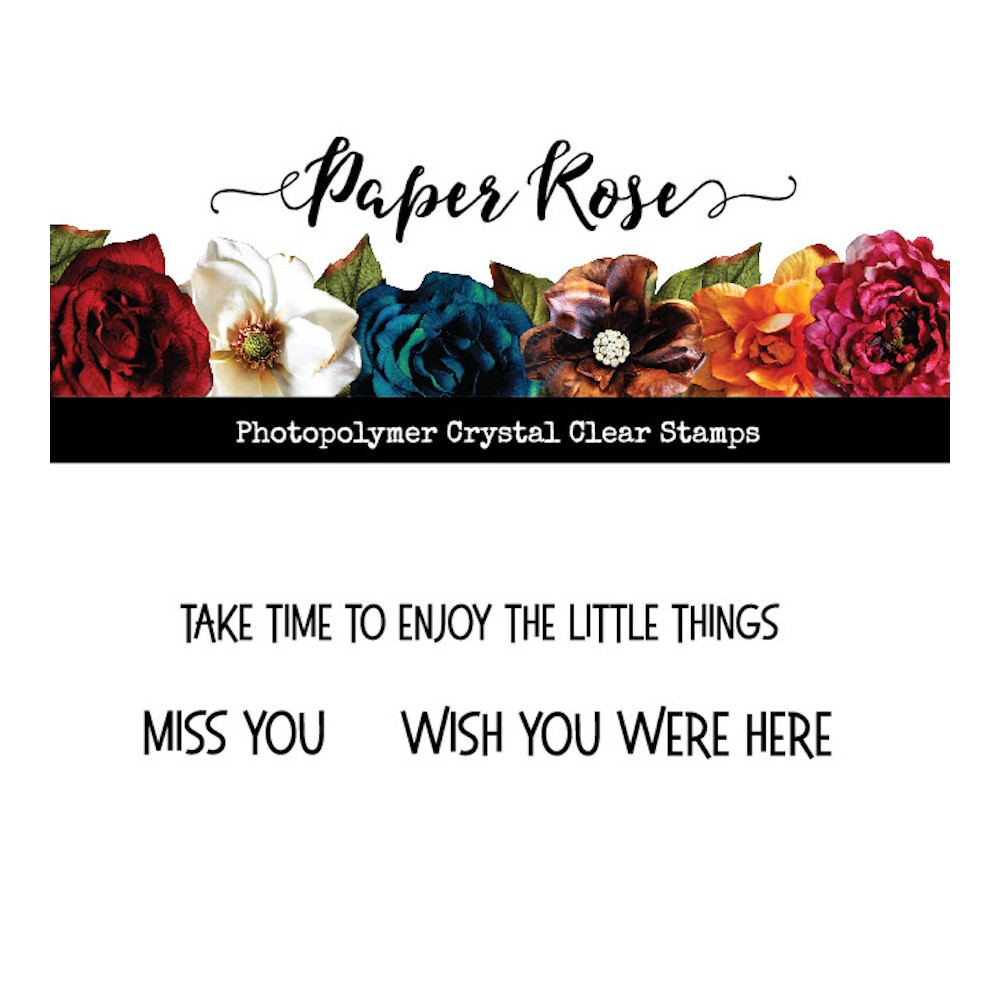 Paper Rose WISH YOU WERE HERE Clear Stamp 23521 zoom image