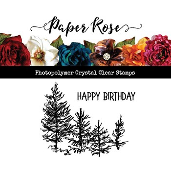 Paper Rose TINY FOREST Clear Stamp 23524