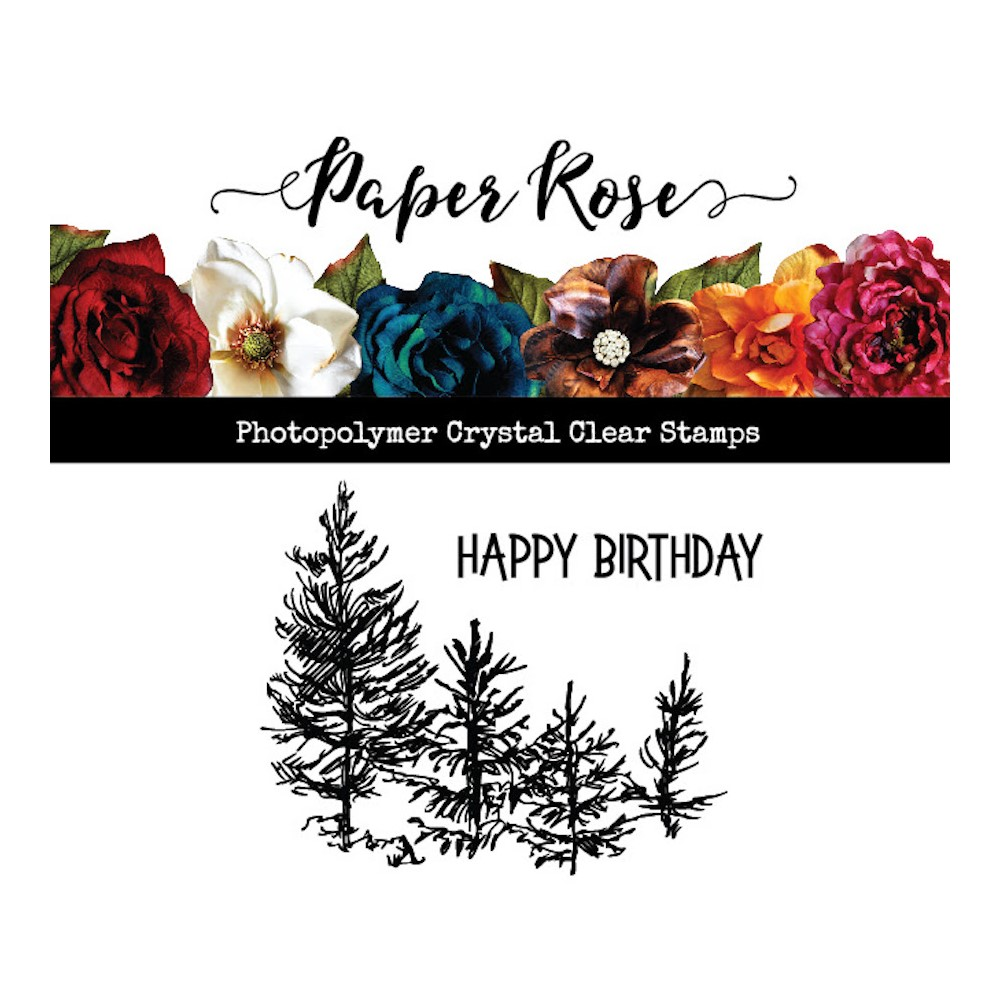 Paper Rose TINY FOREST Clear Stamp 23524 zoom image